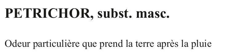 T-shirt-Définition-Pétrichor