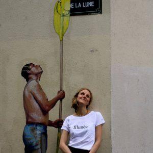 Le t-shirt Illunée prêt à porter par l'atelier jour de lune