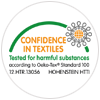 logo confidence in textile