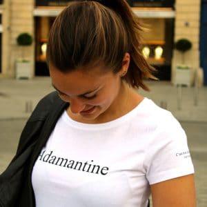 Le t-shirt Adamantine prêt à porter femme par l'atelier jour de lune