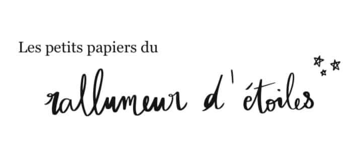 Logo des petits papiers du rallumeur d'étoiles par l'Atelier Jour de Lune