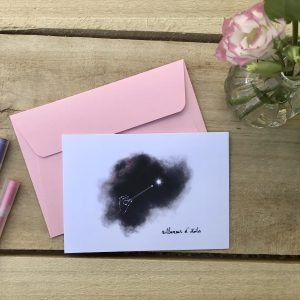 Carte postale avec enveloppe Rallumeur d'étoiles par l'Atelier Jour de Lune