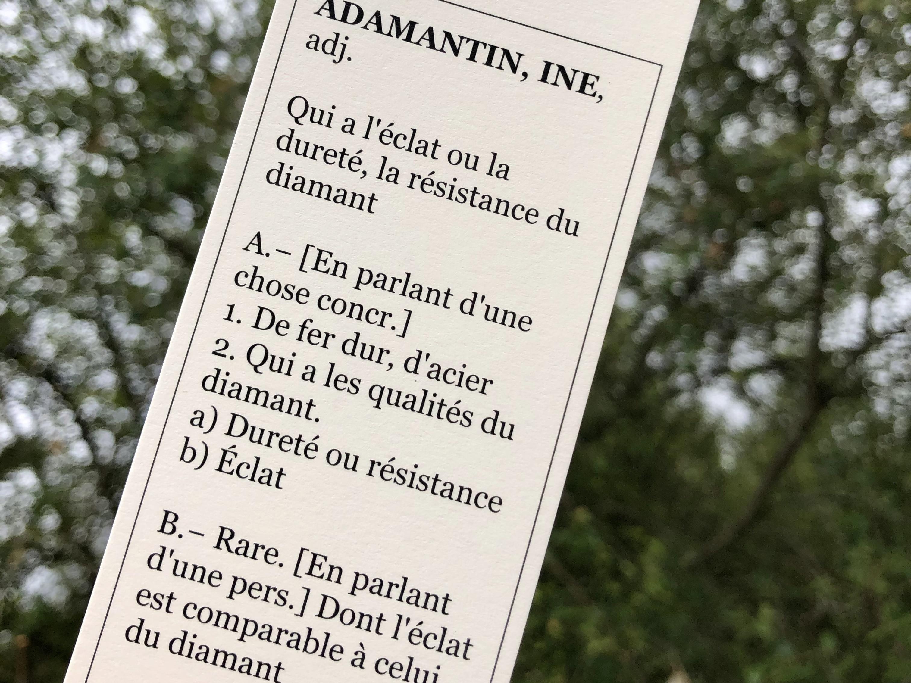 Etiquette-définition-Adamantine