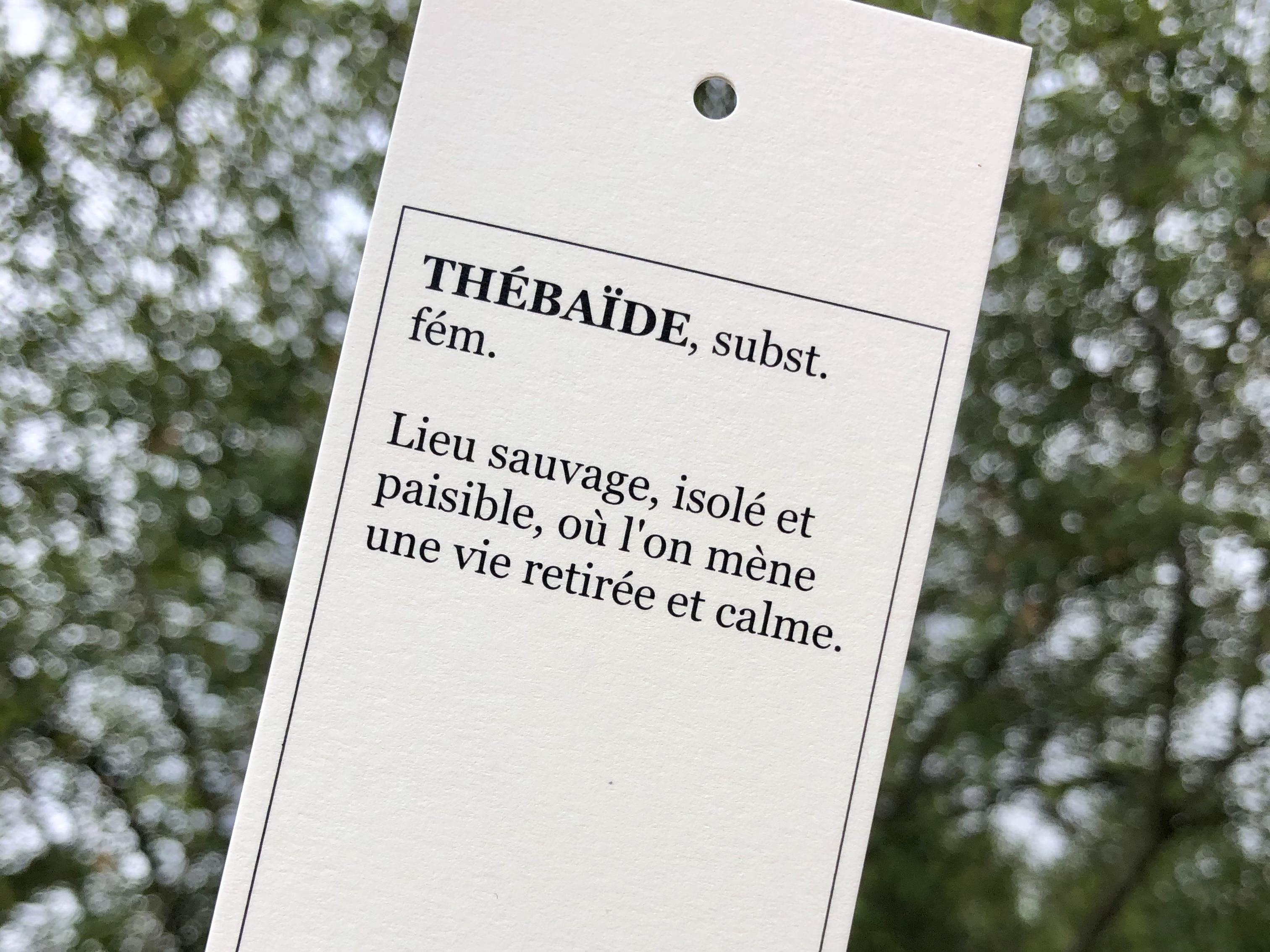 Etiquette-définition-Thébaïde